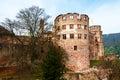 Heidelberg, Germany. Renaissance style Heidelberg Castle Royalty Free Stock Photo
