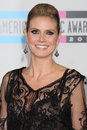 Heidi klum los angeles nov arrives at the american music awards at nokia theater on november in los angeles ca Royalty Free Stock Image