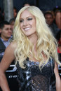 Heidi montag arriving at the gi joe premiere at the grauman s chinese theater in los angeles ca on august Royalty Free Stock Images