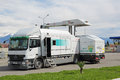 Heimann cargo vision gantry sochi russia mar mobile inspection complex for customs inspection of vehicles at the border with the Royalty Free Stock Photo