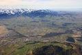 Heimberg near Thun with Alps mountains Switzerland aerial view p Royalty Free Stock Photo