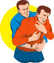 Heimlich maneuver on adult Stock Photography