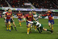 Heineken Cup rugby match USAP vs Leicester Stock Photo