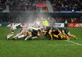 Heineken Cup rugby match USAP vs London Irish Stock Images