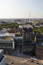 Heinrich hertz tv tower in hamburg germany view to the Royalty Free Stock Photos