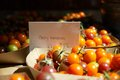 Heirloom cherry tomatoes for sale in farmer's market in summer Royalty Free Stock Photo