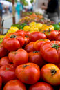 Heirloom Tomatoes at Farmer's Stock Image