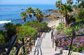 Heisler Park stairway to Rock Pile Beach, Laguna Beach CA Royalty Free Stock Photo