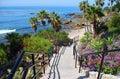 Heisler Park stairway to Rock Pile Beach, Laguna Beach CA Royalty Free Stock Photo