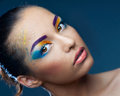 Heldere make-up Stock Fotografie