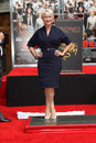 Helen mirren at the hand and foot print ceremony chinese theater hollywood ca Stock Photos