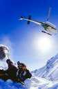 Heli-skiing in the Chugach Mountains of Alaska Stock Photo