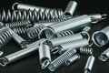 Helical springs Stock Images