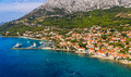 Helicopter aerial shoot of famous tourist destination on peljesac peninsula croatia Stock Photography