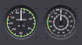 Helicopter airspeed indicators Stock Photos