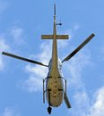 Helicopter with camera for Tv filming Royalty Free Stock Photo