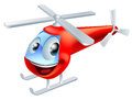 Helicopter cartoon character illustration of a cute red children's Royalty Free Stock Photography