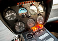 Helicopter cockpit or flight deck of a Royalty Free Stock Images
