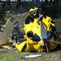 Helicopter crash Stock Images