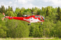 Helicopter In Field
