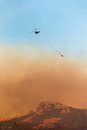 Helicopter Firefighters Fighting a Fire