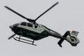 Helicopter guardia civil aircraft ec festa al cel sky party air show mataro spain september Stock Images