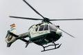 Helicopter guardia civil aircraft ec festa al cel sky party air show mataro spain september Royalty Free Stock Photo