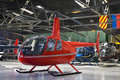 Helicopter Hangar, Full of Robinson R44 Stock Image