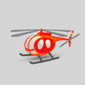 Helicopter illustration of on a grey surface Stock Photos