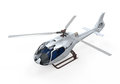Helicopter isolated on white background d render Stock Photography