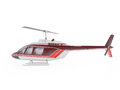 Helicopter isolated on the white background.