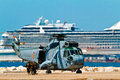 Helicopter seaking malaga spain may westland sh d w of the spanish navy taking part in an exhibition on the day of the spanish Stock Image