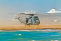 Helicopter seaking malaga spain may westland sh d w of the spanish navy taking part in an exhibition on the day of the spanish Stock Photo