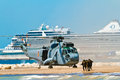 Helicopter seaking malaga spain may westland sh d w of the spanish navy taking part in an exhibition on the day of the spanish Stock Photos