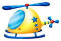 A helicopter toy illustration of on white background Royalty Free Stock Photography