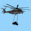 Helicopter transport an image of a military Royalty Free Stock Photo
