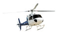 Helicopter with working propeller Royalty Free Stock Photo