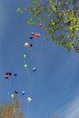 Helium balloon air balloons for birthday celebration Royalty Free Stock Photos
