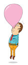 Helium bubble gum illustration of a Stock Image