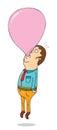 Helium bubble gum illustration of a Stock Image