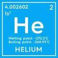 Helium. Noble gases. Chemical Element of Mendeleev\'s Periodic Table. 3D illustration Royalty Free Stock Photo