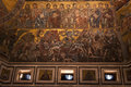 Hell Byzantine Mosaic - Florence Baptistery Cupola Royalty Free Stock Photo