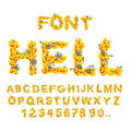 Hell font. inferno ABC. Fire letters. Sinners in hellfire. helli