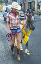 Helldorado days parade las vegas may a participant at the held in las vegas usa on may the annual Stock Photography