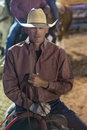 Helldorado days rodeo las vegas may cowboy participant at the professional in las vegas usa on may Stock Photography