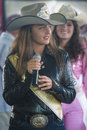 Helldorado days rodeo las vegas may cowgirls participant at the professional in las vegas usa on may Stock Image