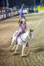 Helldorado days rodeo las vegas may cowgirls participant at the professional in las vegas usa on may Stock Photo