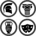 Hellenic buttons Royalty Free Stock Photo
