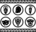 Hellenic buttons Royalty Free Stock Photography