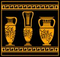 Hellenic jugs Royalty Free Stock Images